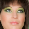 Green Eyeshadow with Blue Eyes