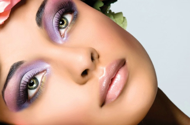 how to apply purple eyeshadow for hazel eyes